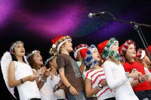 FESTIVE MOOD: The Whangarei Primary School helped create the mood at the Christmas Festival.