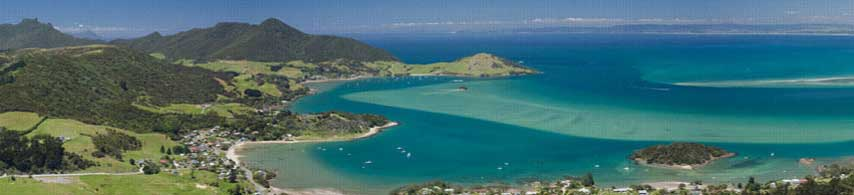 Photo of Whangarei harbour, from Mt Manaia.