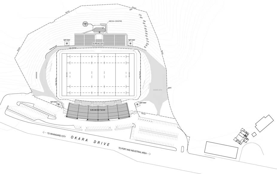 Toll Stadium floor plan image.